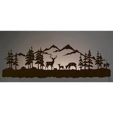 deer family back lit wall ar