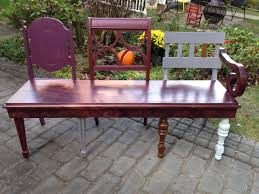 diy beautiful bench from 3 antique chairs youtube