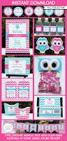 owl birthday party instant download full birthday printable