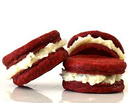 red velvet sandwich cookies vegan theveglife