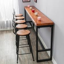 Wall Bar Table Retro Leisure Cafes Against The Wall Bar Table Home High Bar Table