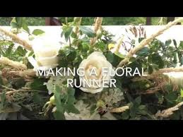 making a floral table runner youtube
