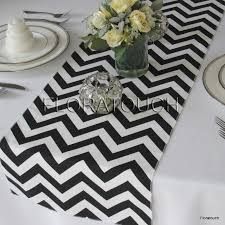 black and white table runners cheap white and black chevron table runner zigzag wedding table
