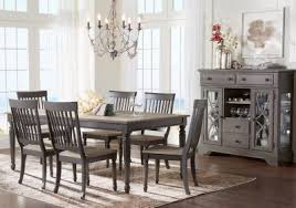 Cindy Crawford Home Ocean Grove Gray  Pc Dining Room - Grey dining room chairs