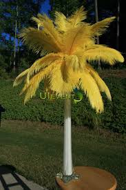 feather centerpieces yellow ostrich feathers centerpieces for wedding