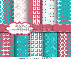 Flower Design For Scrapbook Set Vector Abstract Paper Scrapbook Stock Vector 109279631