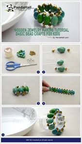 wooden jewelry making tutorial basic bead crafts for kids from