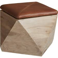 Storage Stools Ottomans Shop Hexagon Storage Ottoman Wooden Shapes Up As Stunning