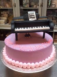 piano cake topper chocolate cake iced in lilac butter icing decorated flickr
