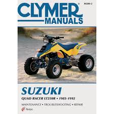 clymer suzuki quad racer lt250r 1985 1992 shops and quad
