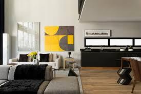 modern industrial interior design in beautiful open apartment