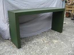 Parsons Console Table Cbell Furnishing Custom Orders Custom Linen Wrap