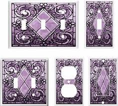 ebay stained glass ls image of purple swirl stained glass 18 light switch cover u