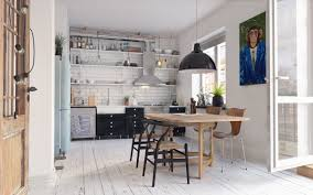 dining room classic scandinavian dining room features wooden