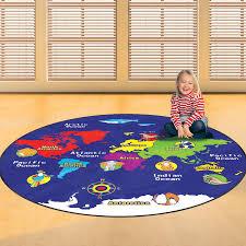 child u0027s world map floor rug by me and freya notonthehighstreet com