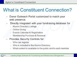 alumni directory software agilon s constituent connection leading edge software for