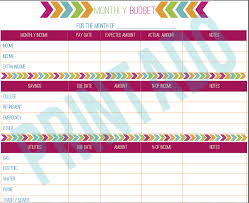 budget worksheet in pdf here u0027s a printable monthly budget