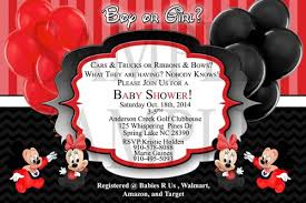 mickey mouse baby shower invitations minnie and mickey mouse baby boy girl shower invitation diy