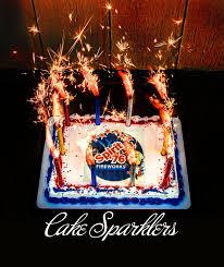 birthday sparklers cake sparkler 4pc weddingsparklers