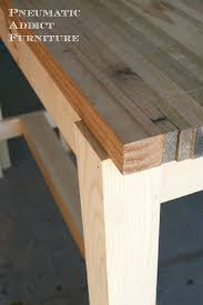 pneumatic addict butcher block sofa table butcher block sofa table