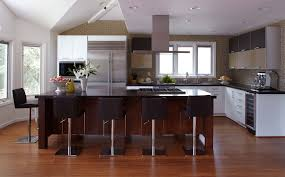 Two Tone Kitchen Cabinet Doors Modern Timber Kitchens Black Varnished Wooden Island Modern Solid