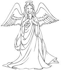 emejing angels coloring pages images best printable coloring