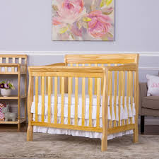 Solid Wood Mini Crib by Dream On Me Aden Convertible 4 In 1 Mini Crib Natural Babies
