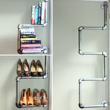 how to diy closet shelves of metal pipes with their hands u2013 diy is fun