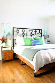 A Frame Bed Diy Walnut Plywood Bed Frame With Welded Legs Dans Le Lakehouse