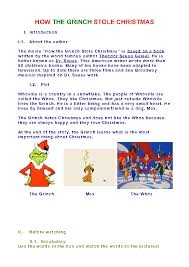 worksheet how the grinch stole christmas