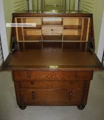 antique drop front desk antique art deco tiger oak wood secretary bureau drop front desk
