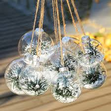 wholesale dia7cm clear transparent glass bauble wedding