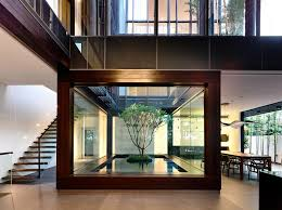 homes with interior courtyards open tropical home with interior courtyard and wood features