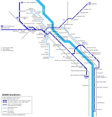 Germany Rail Map by Urbanrail Net U003e Europe U003e Germany U003e Bonn Stadtbahn