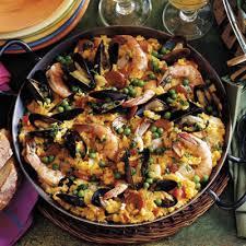 Simple Main Dish - shellfish and chorizo paella