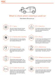 buying a used car the ultimate checklist rac drive