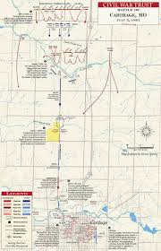 Missouri State Map Battle Of Carthage July 5 1861 Civil War Trust
