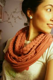 braided scarf nette braided layered scarf with lace neck