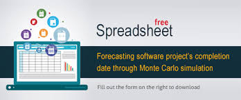 Free Spreadsheet Software Forecasting Software Project S Completion Date Through Monte Carlo