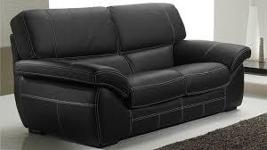 canap 2 places noir canap italien 2 places en cuir noir canap pas cher élégant canapé 2