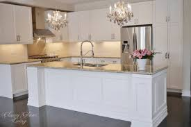 wainscoting kitchen island diy kitchen island makeover glam living exceptional
