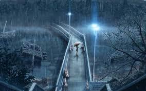 imagenes de paisajes lluviosos dia lluvioso chaparron un puente una chica chicas muchacha