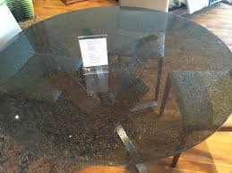 tinted glass table top ironhorse home crackled glass top dining table very unique