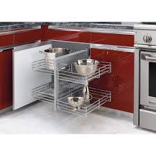 kitchen cabinet slide out shelves rev a shelf 21 in h x 26 25 in w x 20 25 in d blind corner
