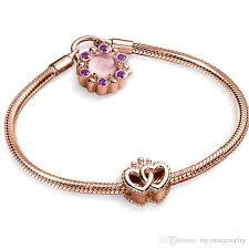 bracelet pandora gold images Christmas gifts pandora rose gold regal heart charm bracelets 925 png