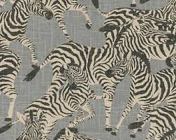 ships same day waverly herd together ruby home decor fabric zebra