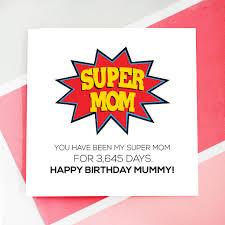 personalised super mom birthday card by rabal notonthehighstreet com
