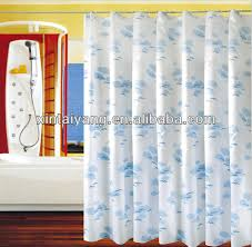 Bath Drapes White Stripe Design Peva Bath Drapes Translucent Shower Curtain