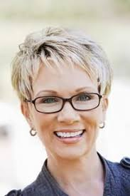 attractive short hairstyles for women over 50 with glasses boy