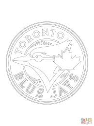 toronto blue jays logo coloring page free printable coloring pages